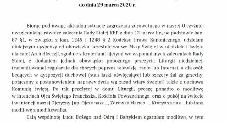 Dekret Metropolity Szczecińsko-Kamieńskiego